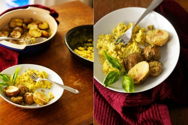 {Recipe: Tofu Scramble with Roasted Potatoes} - A Thought For Food
