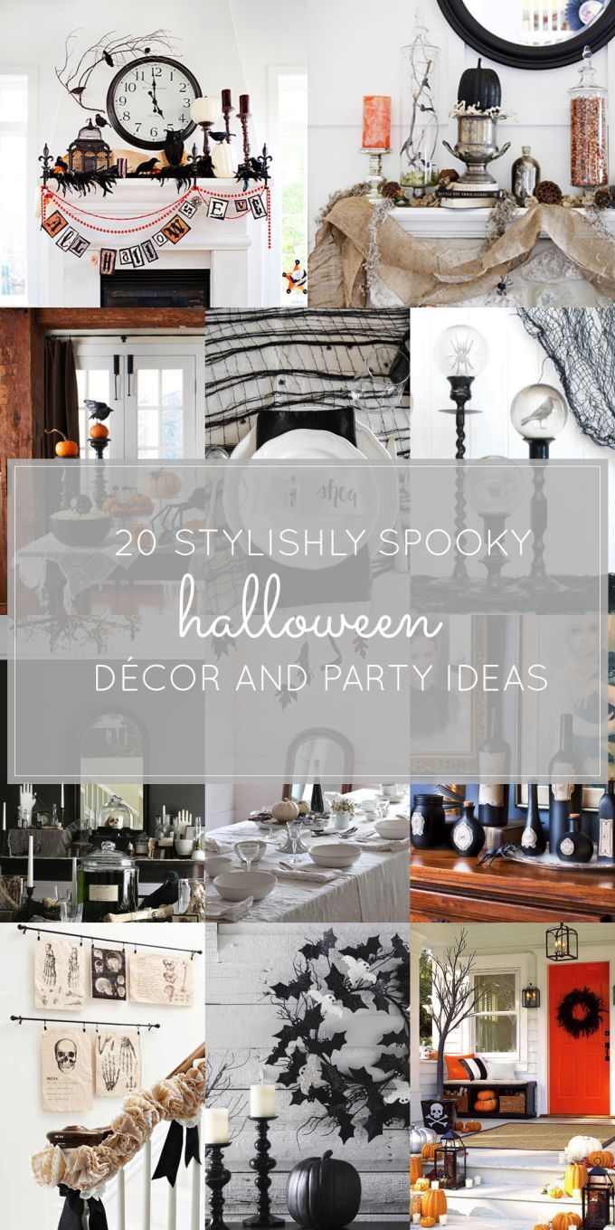 20 Stylish Halloween Décor and Party Ideas Food costumes - black and white halloween decorations