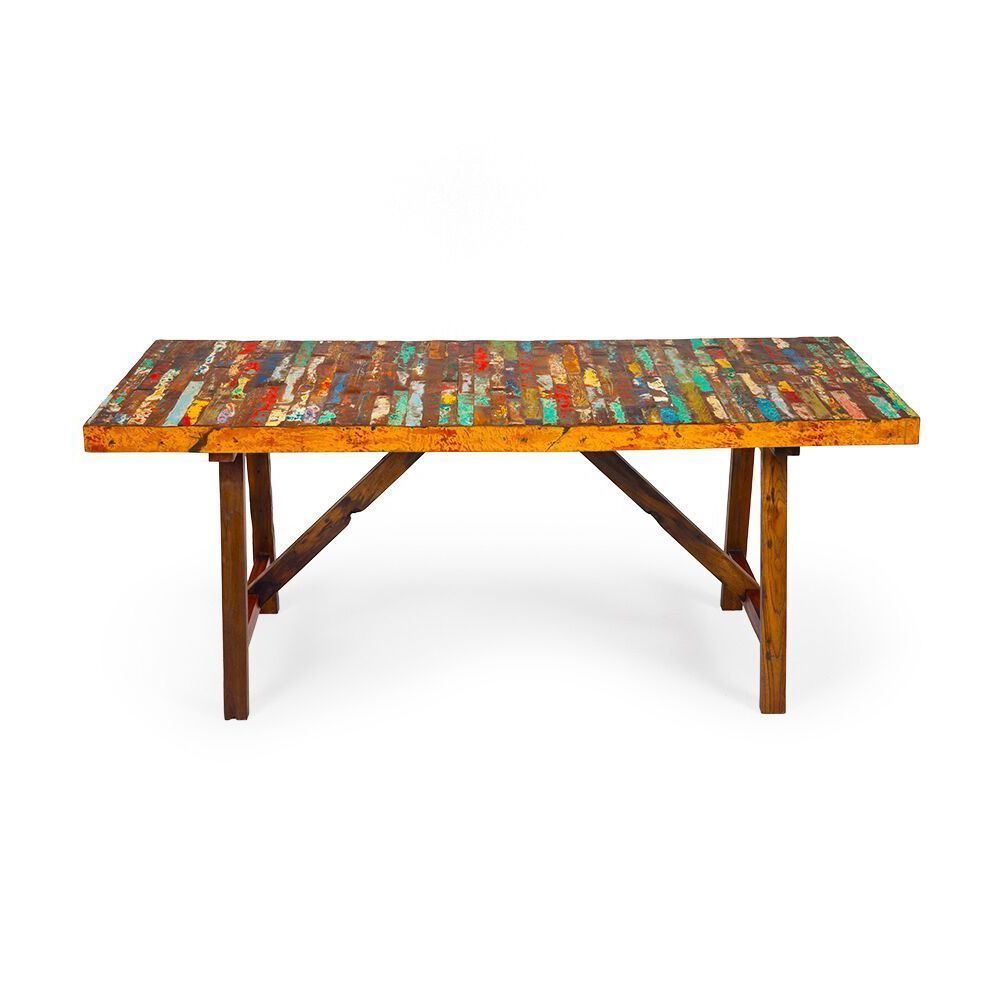 Superior Buoy Crazy Reclaimed Wood Dining Table