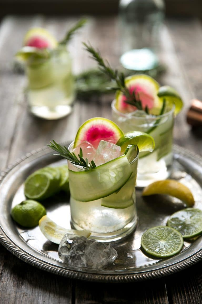 Cucumber Rosemary Gin and Tonic The Forked Spoon
