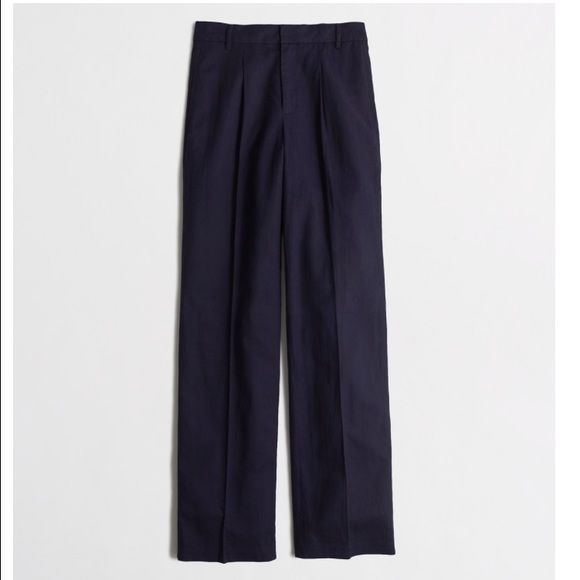 JCrew Factory Linen Trouser Navy Linen Trouser J.Crew Factory Pants Trousers