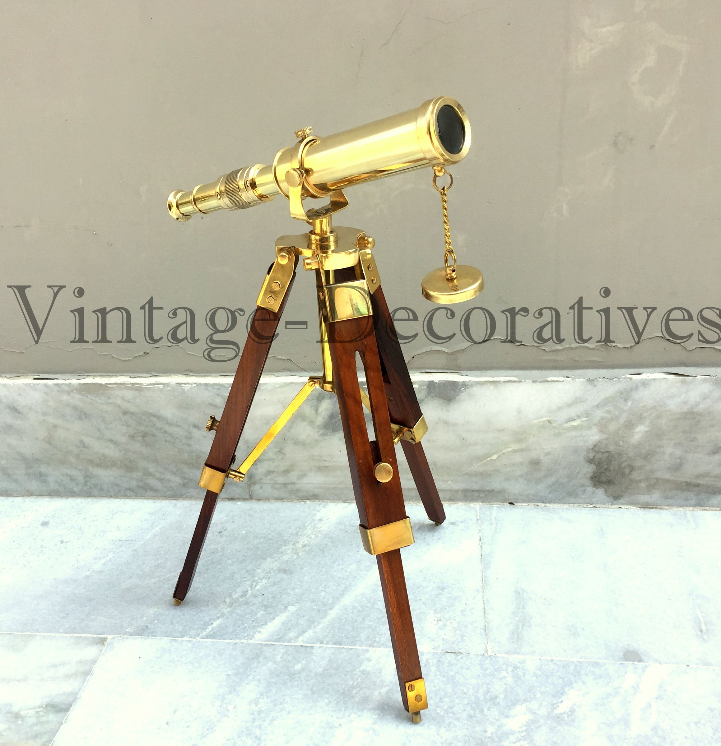 NAUTICAL ANTIQUE DESIGN SCOPE TELESCOPE MARINE VINTAGE TRIPOD OLD NAVY TELESCOPE