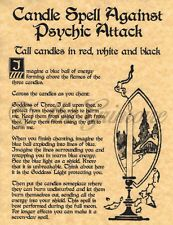 Candle Spell Against Psychic Attack, Book of Shadows Page