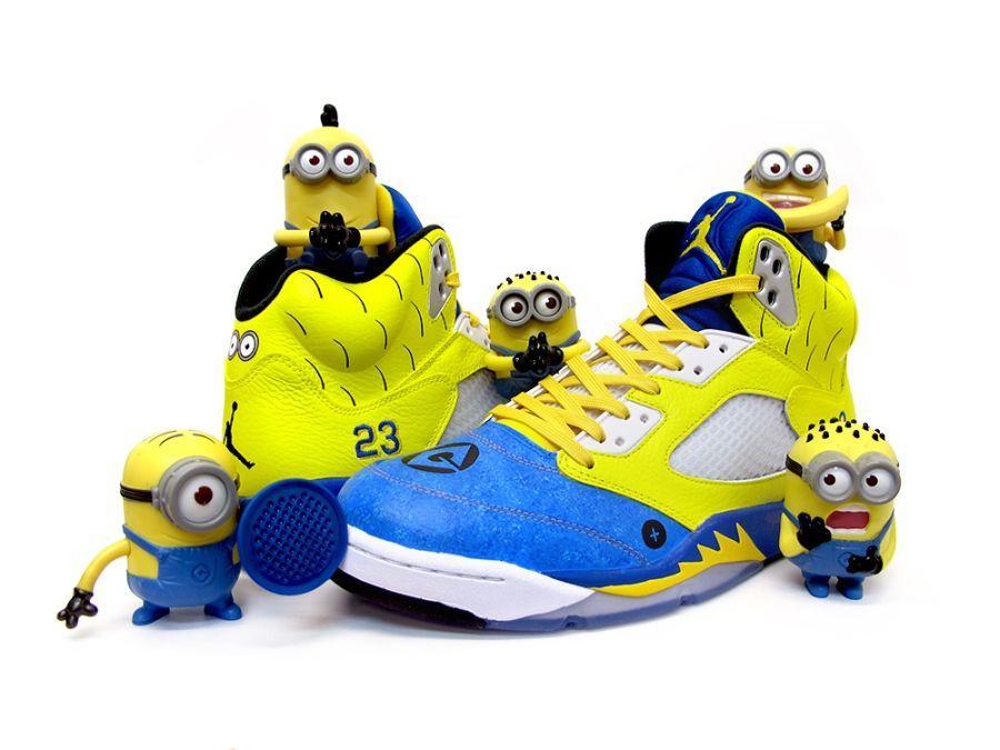 "big sale 24b20 93e71 Air Jordan 5 ""Minion"" Custom"