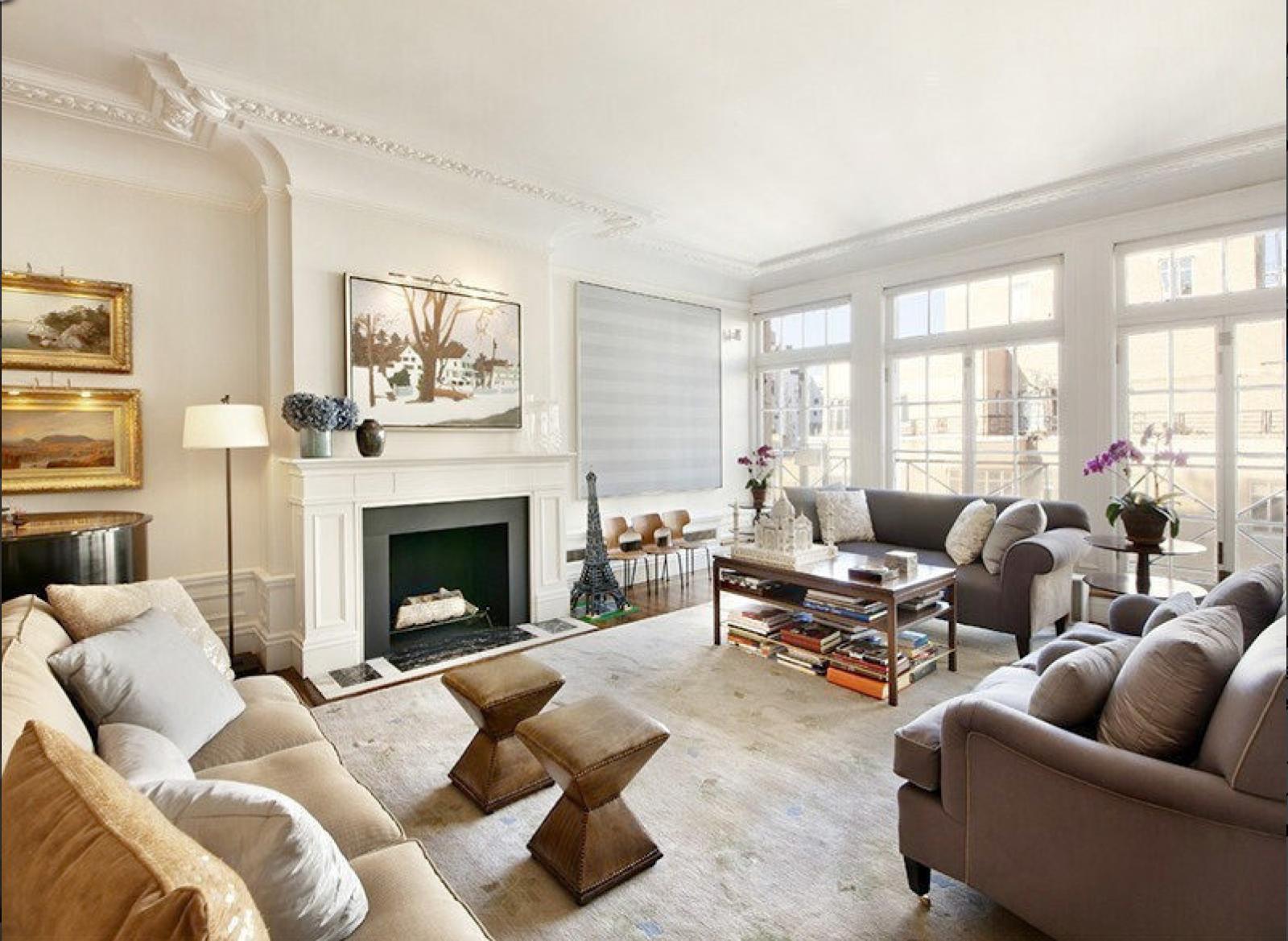 Celebrity Rooms Drew Barrymore Color scheme Monochromatic
