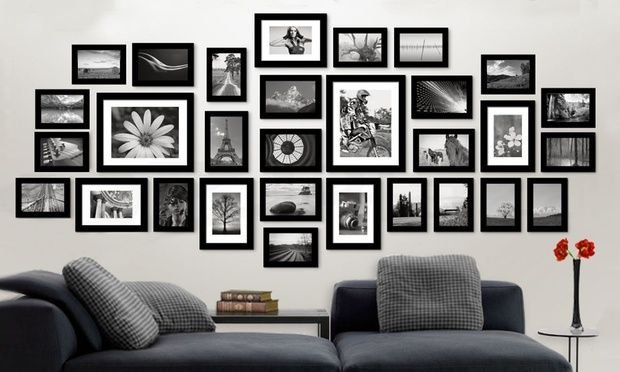 11 26 30 Piece Wall Photo Frame Set Groupon Frames On Wall Wall Frame Design Photo Wall Decor