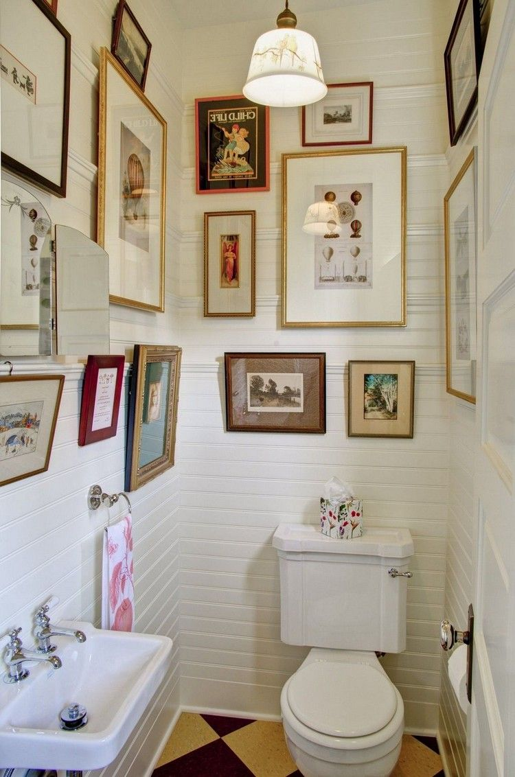 22 Awesome Bathroom Picture And Wall Art Decor Ideas Bathroom Bathroomideas Wallpaper Decor Bathroom Upgrades Tiny Powder Rooms Bathroom Wall Decor Bathroom wall decor ideas