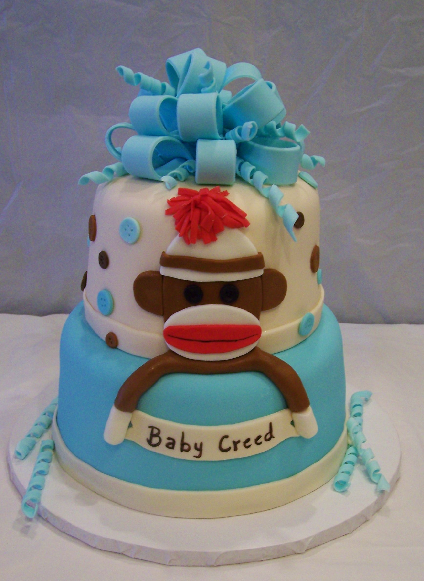 sock monkey baby monkey baby showers sock monkeys baby shower cakes
