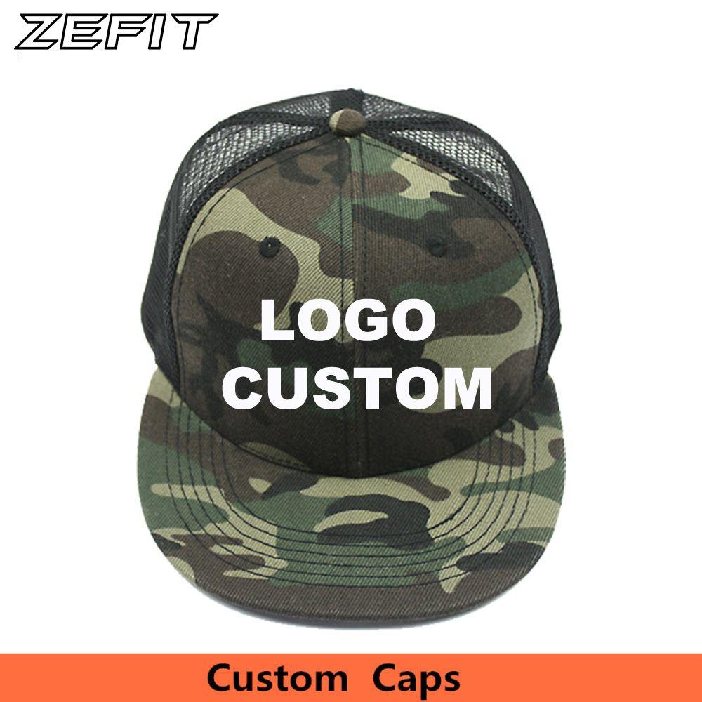 bdc27b8cb Custom Camo Snapback Trucker Caps Free 3D Embroidery Printed Logo ...