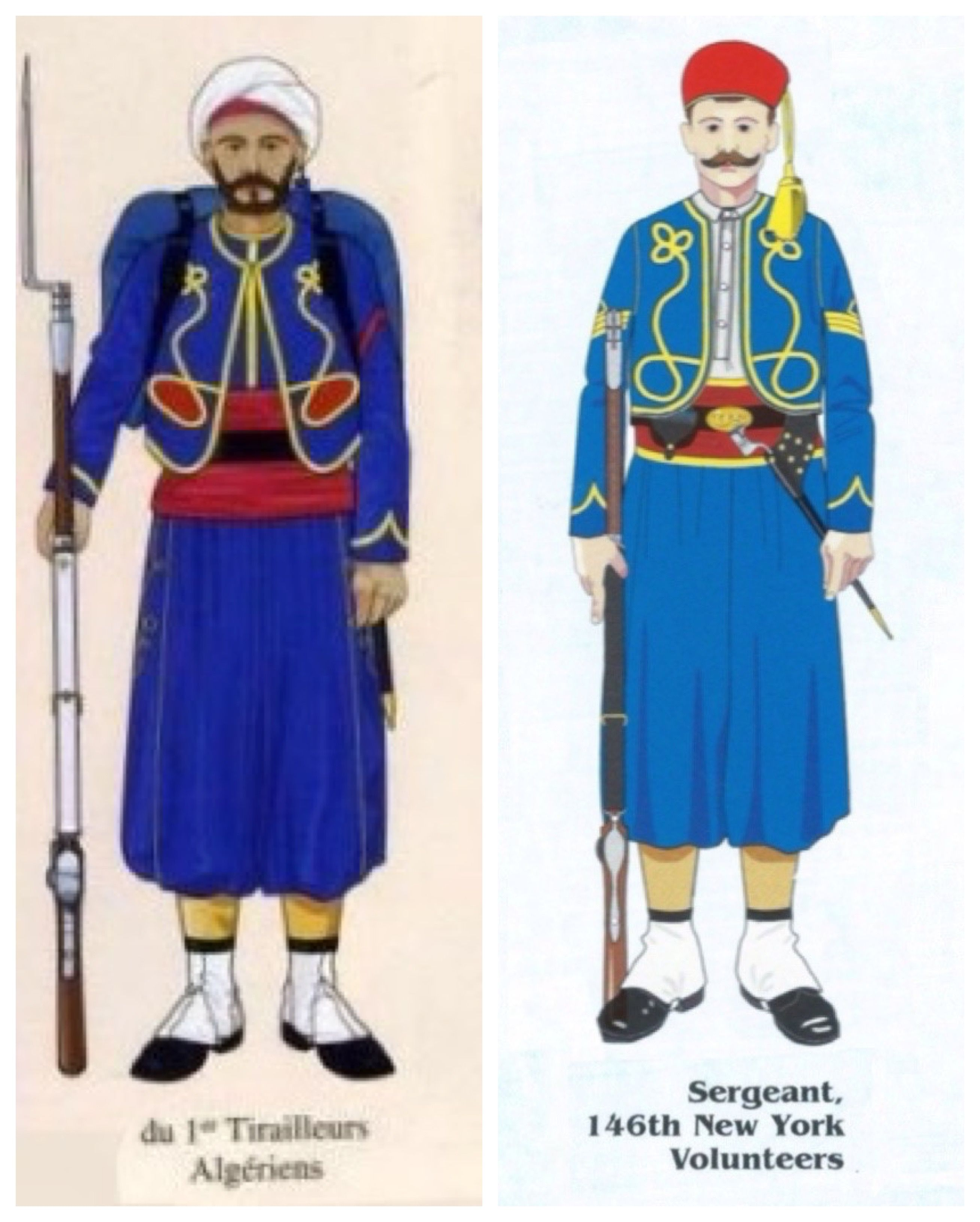 Comparing The Uniform Of The American Civil War Zouaves Uniform This Time With The French