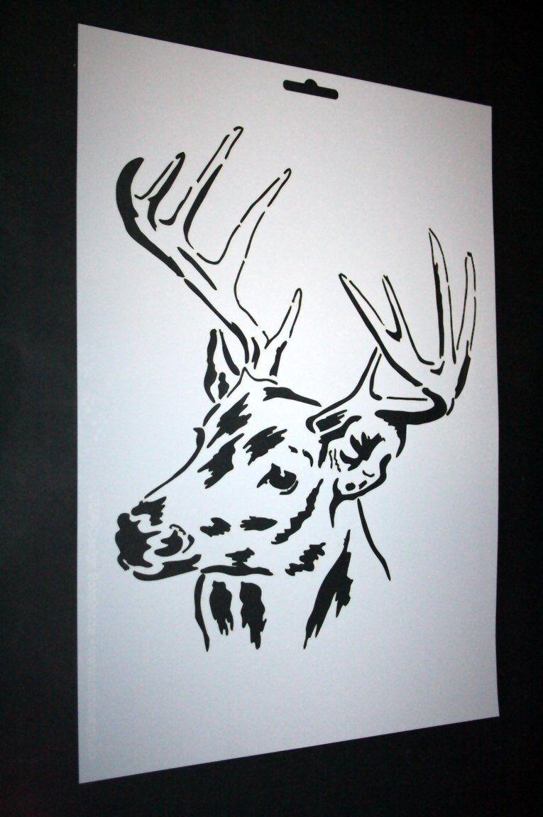 A4 Textil / Wand Schablone Hirsch W-160 | deer | Pinterest ...