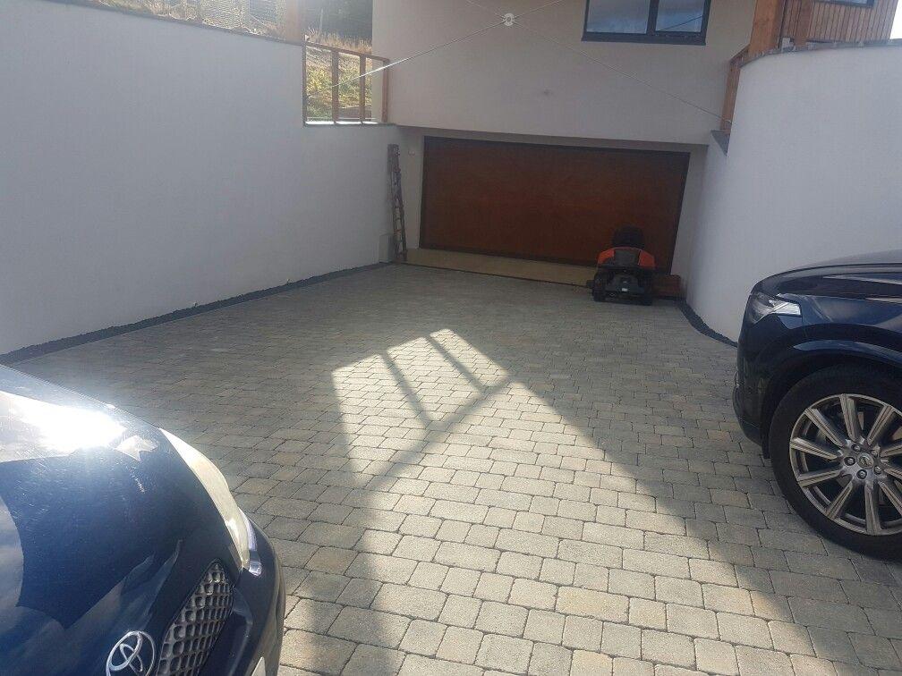 Under ground garage with heated driveway