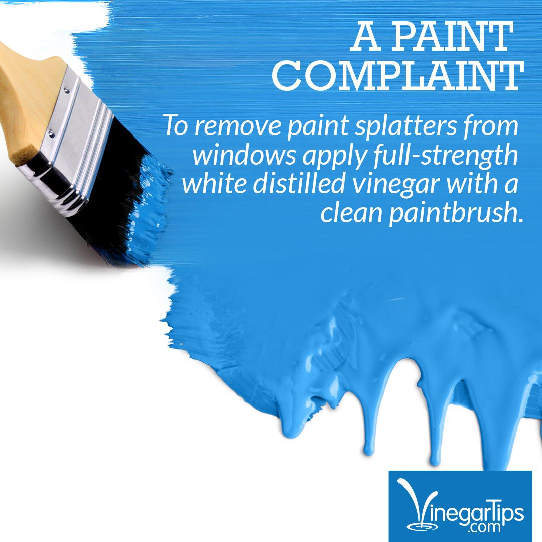 Sloppy painters are no match for vinegar! Try this