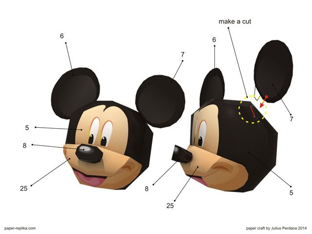 Mickey Mouse Paper Craft Paper Things I Have Made And Want To Make