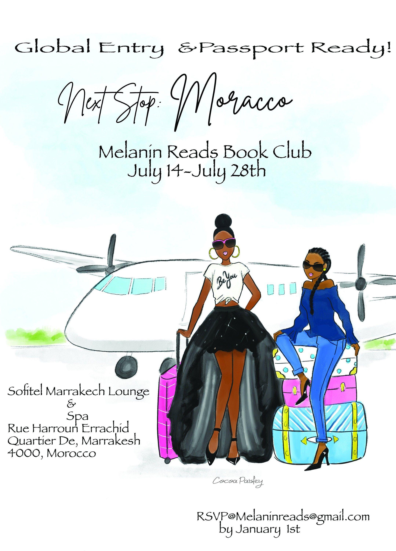 African american girls get away invitation jetset etsy