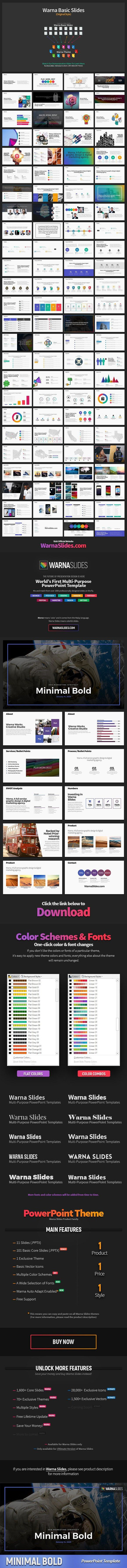 minimal bold powerpoint template presentation templates