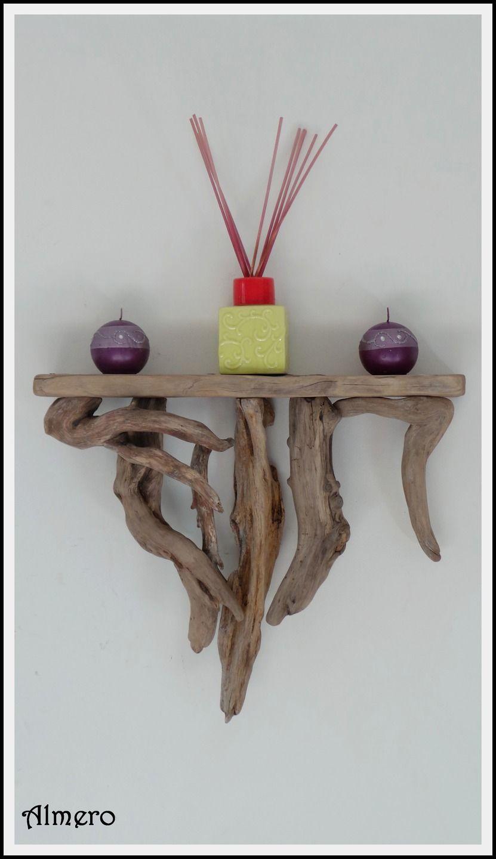 Etagere en bois flotte piece originale et unique - Meuble en bois flotte ...