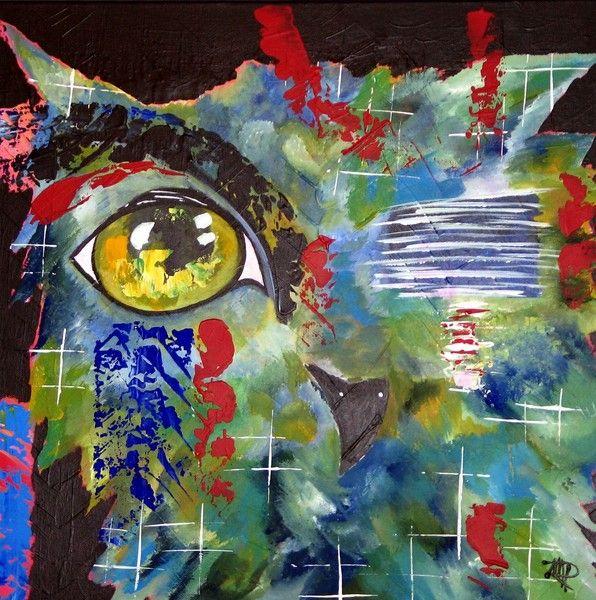 Portrait - Eule - abstrakt - Leinwand | abstrakte Leinwand, Leinwand ...