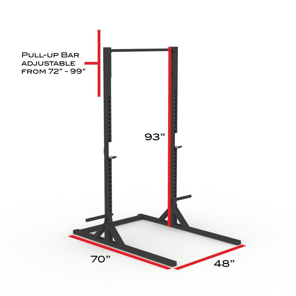 X 2 Elite Series Squat Stand With Pull Up Bar Stand Alone Home