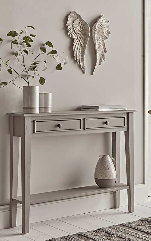 Camille Console Table Grey Gray Console Table Console Table Hallway Hallway Console