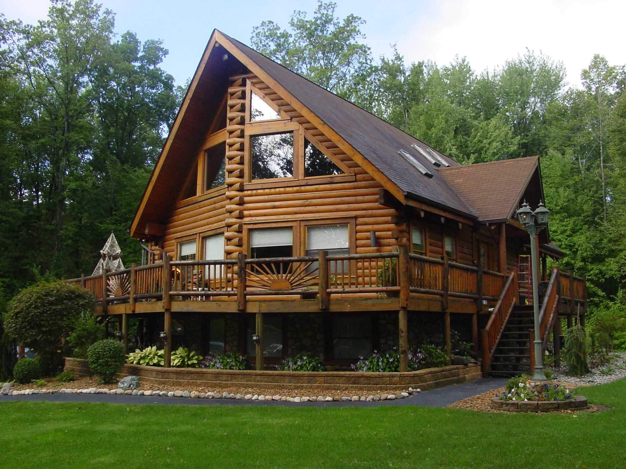 Cabins log home kits custom log cabins southland log for Rustic log home kits