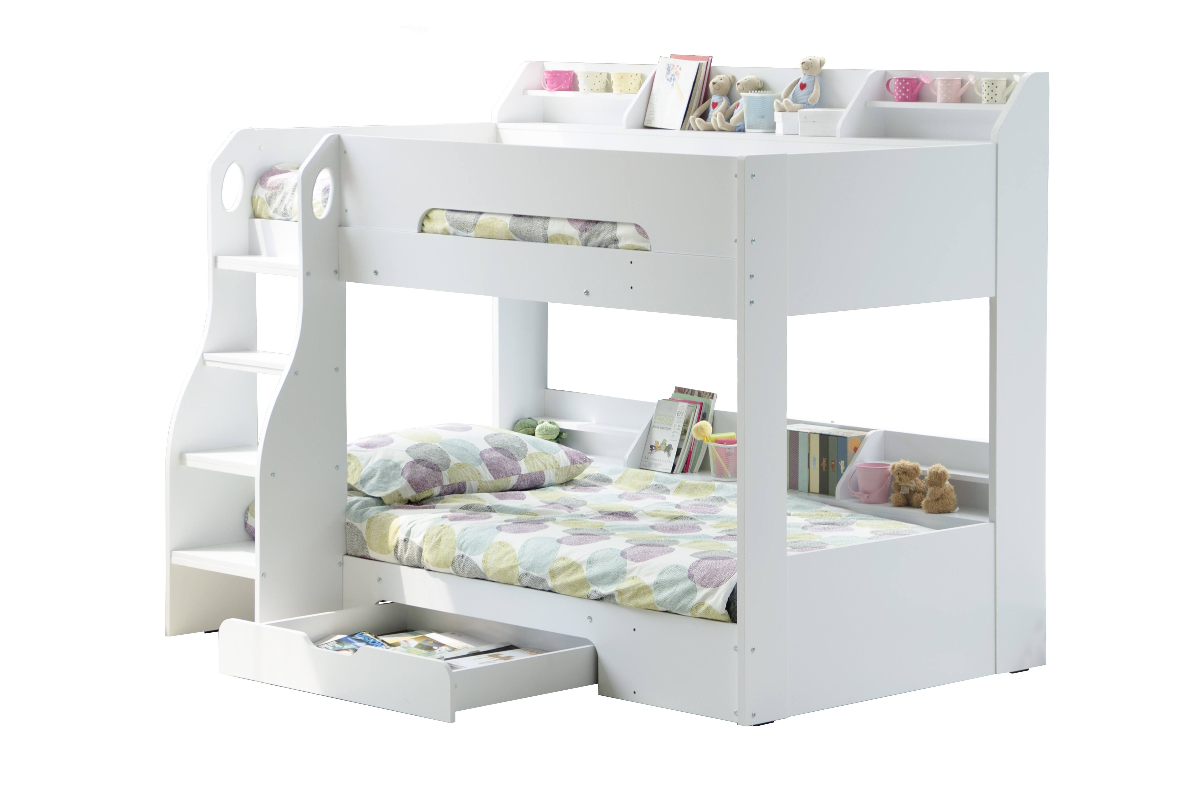 Flair Furnishings Flick Bunk Bed White White bunk beds