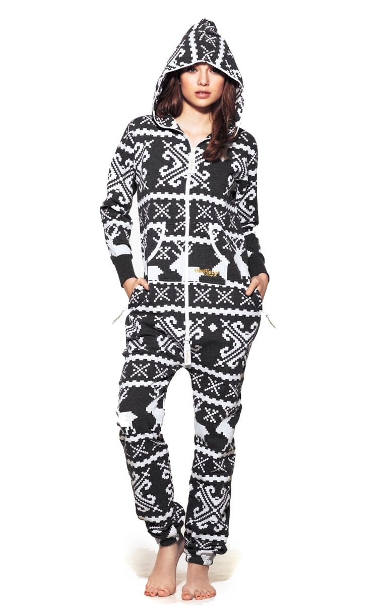 d78273c74 Luxury Onepiece Lillehammer Adult Onesie in Dark Grey and White. This stunning  unisex onesie looks great on both men and women and is all about the chill  ...