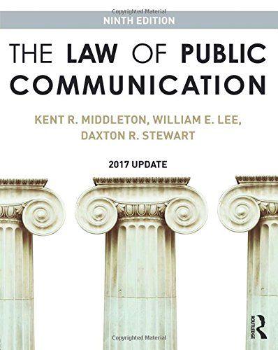 Read Book The Law Of Public Communication Download Pdf Free Epub