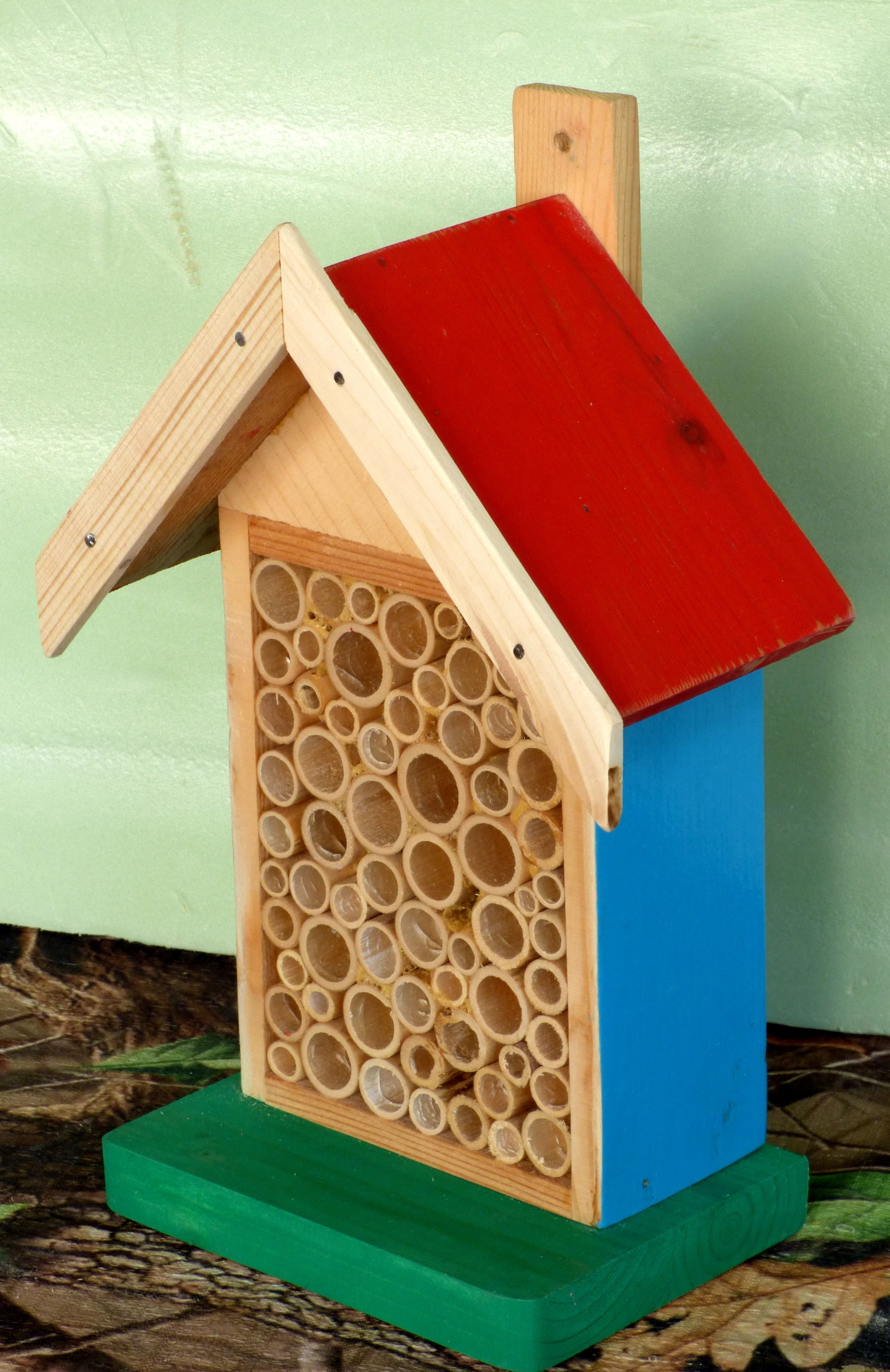 Hotel for insects and bugs to lay eggs. Made by Gönenç