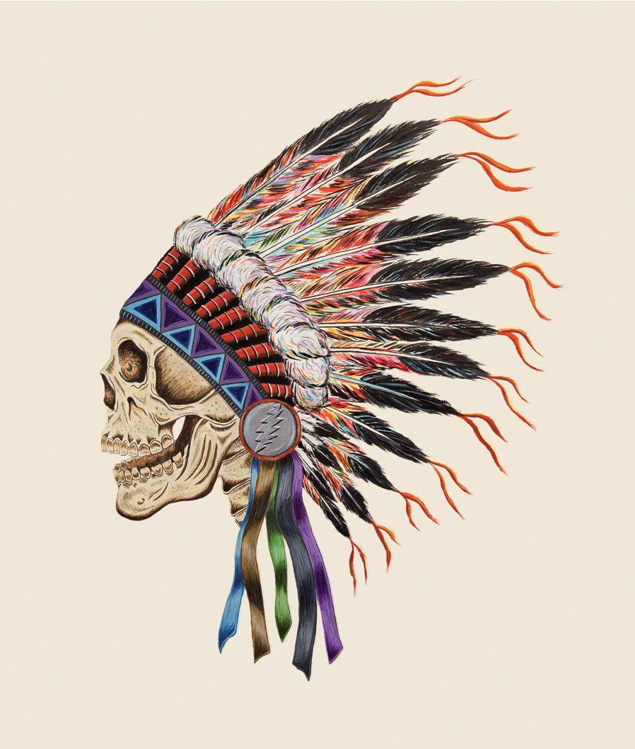 Wes lang warrior skull for the grateful dead box set of spring 1990