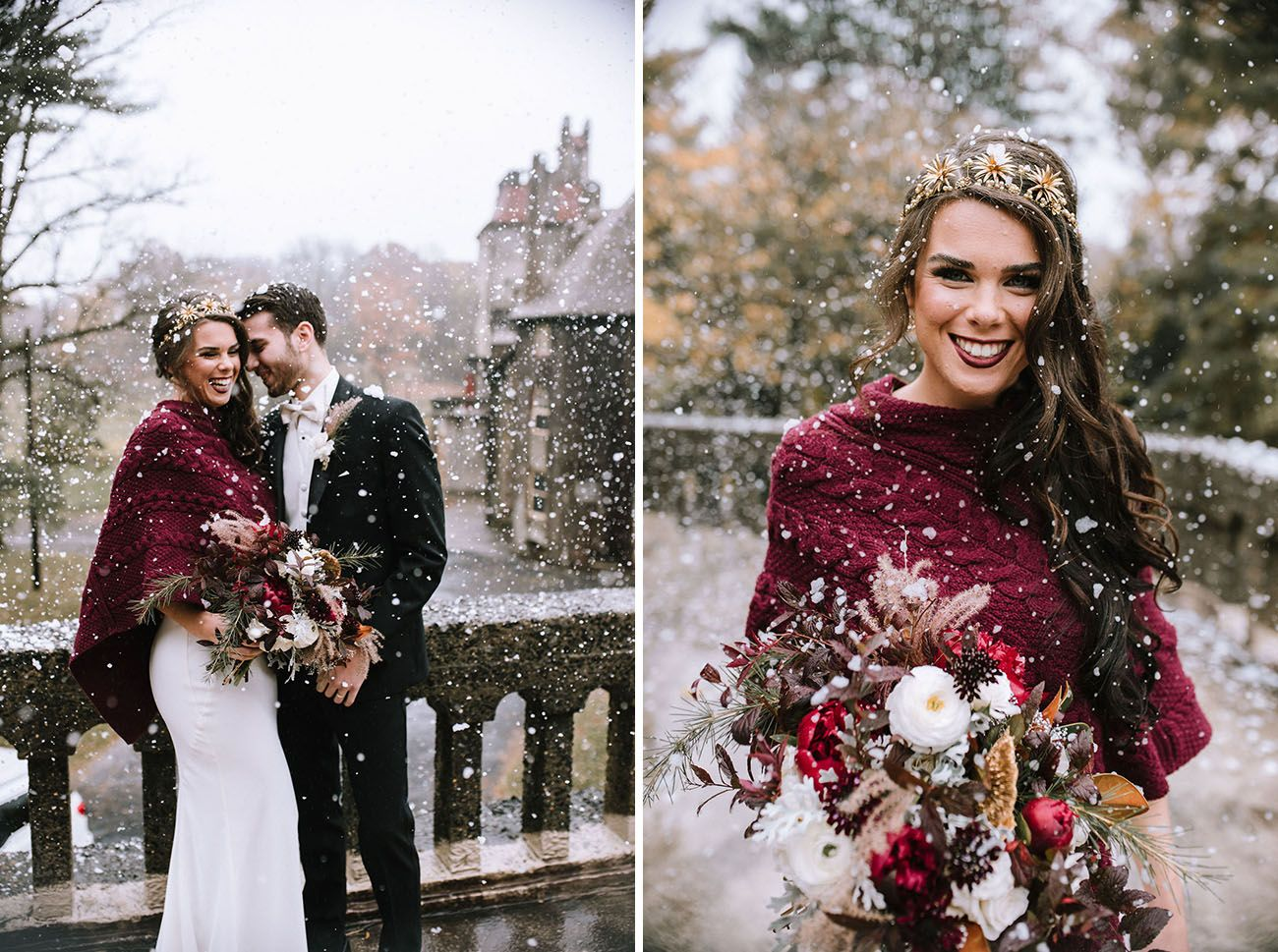 Glam And Gilded Luxe Christmas Wedding Inspiration In A Historic Castle Green Wedding Shoes Christmas Wedding Dresses Vintage Christmas Wedding Christmas Wedding Themes