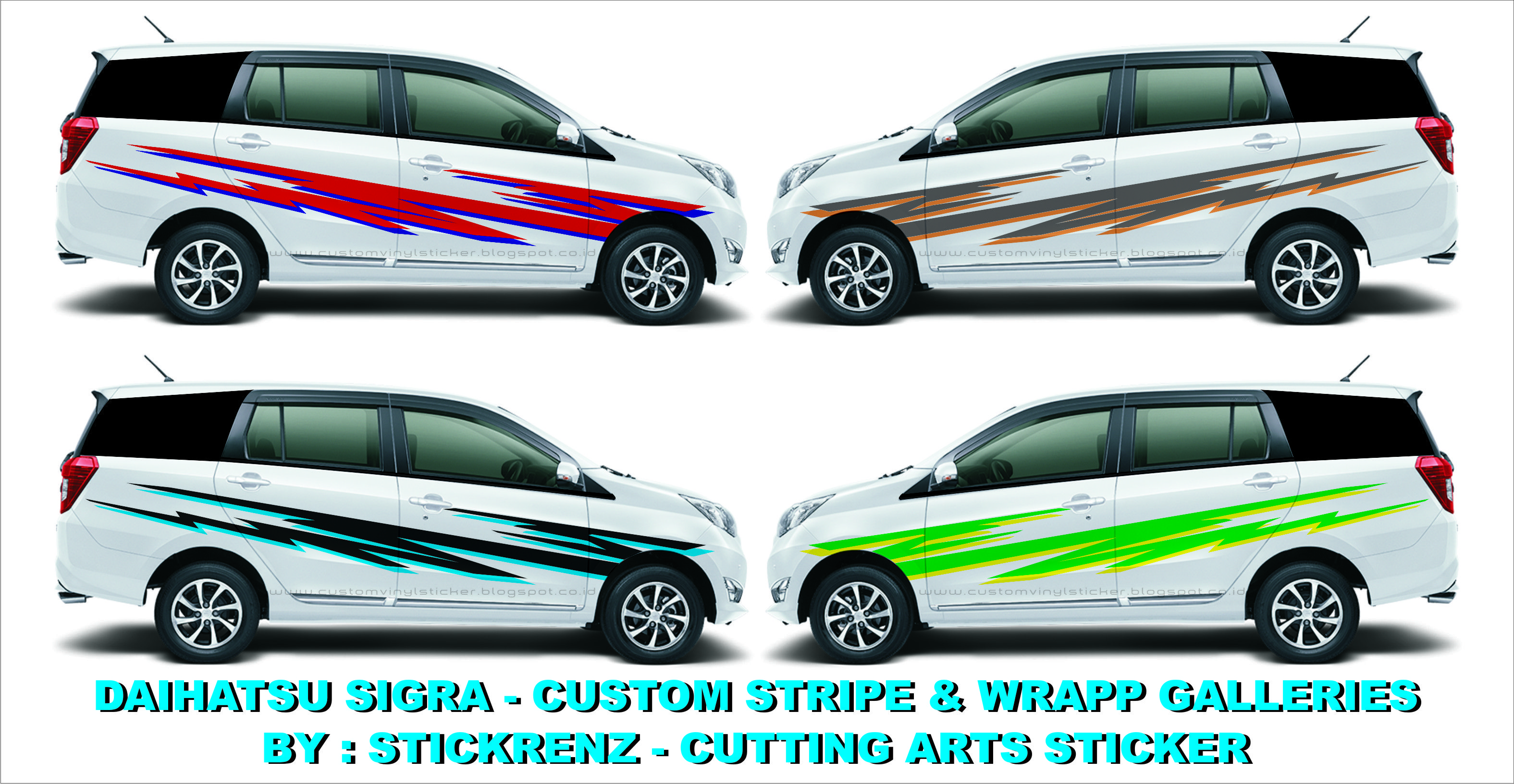 Car cutting sticker design - Daihatsu