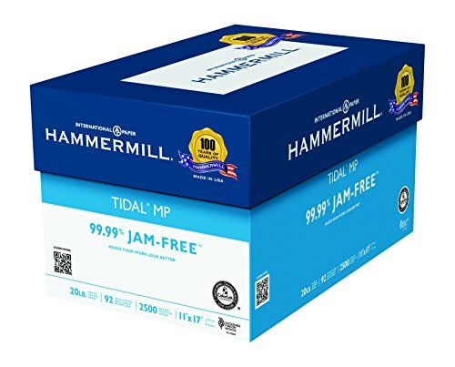 Hammermill Paper Tidal Mp Paper 20lb 11 X 17 Bright 2 500 Sheets 5 Ream Case Made In The Usa Amazon Deals Shopping Copy Paper Printable Paper