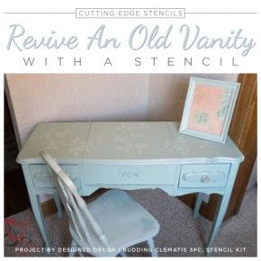 Revive An Old Vanity With A Stencil
