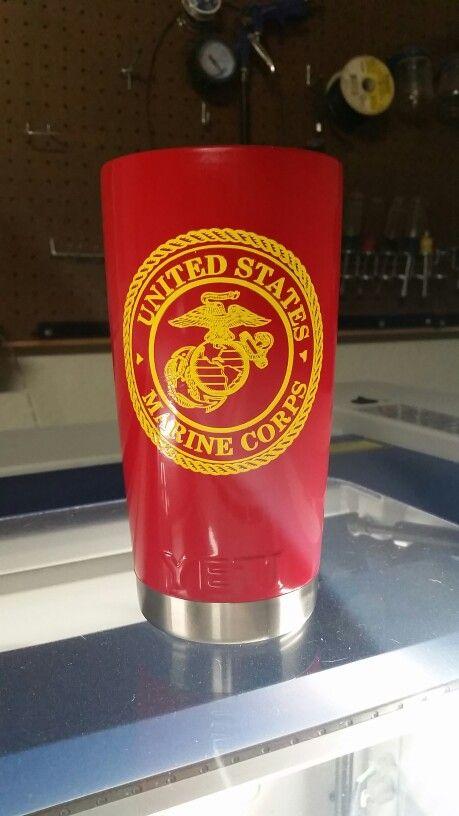 Marine Corp Custom Yeti Rambler Vinyl Tumblers Cup