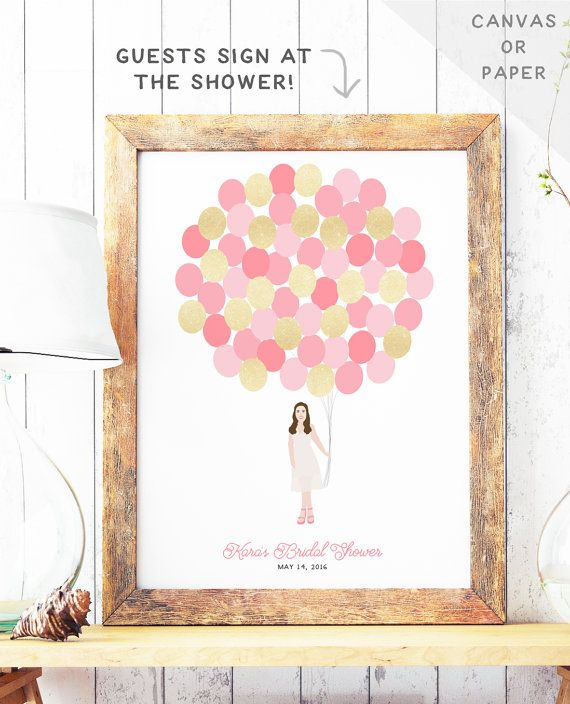 bridal shower guest book alternative bridal by missdesignberryinc