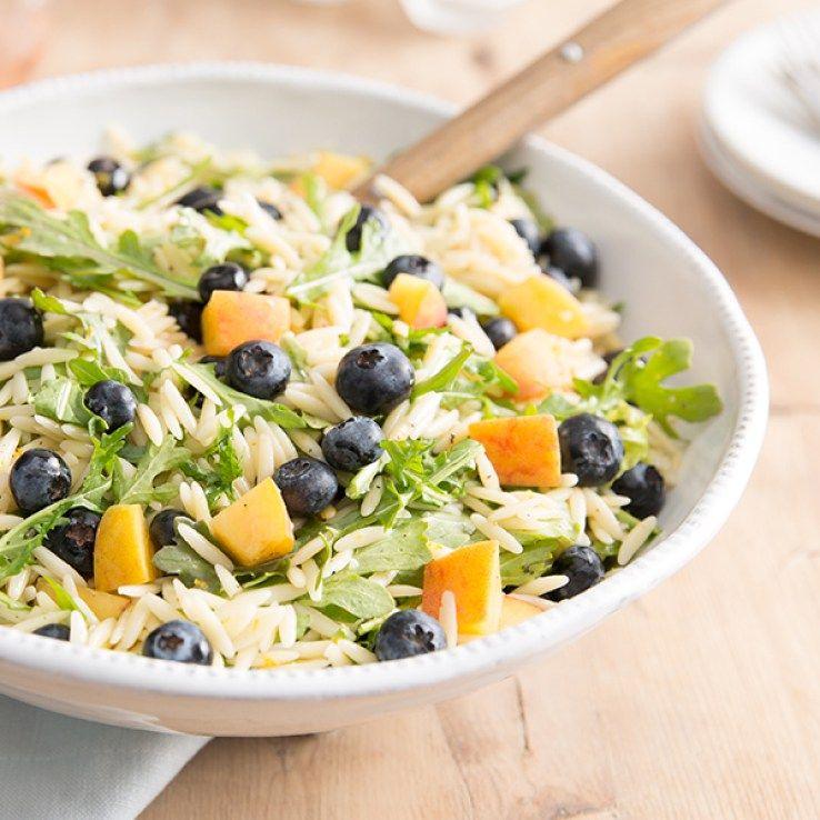 Blueberry Peach Orzo Salad
