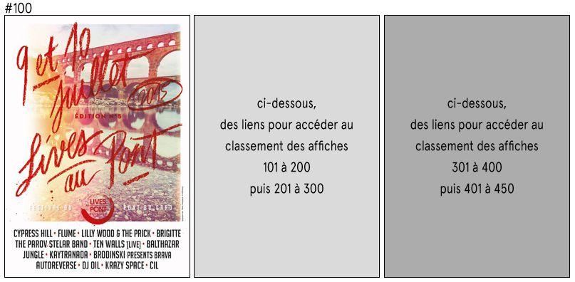 Le classement TOPAFF des 100 meilleures affiches des festivals français de l'année revient pour brocarder les éditions 2015.