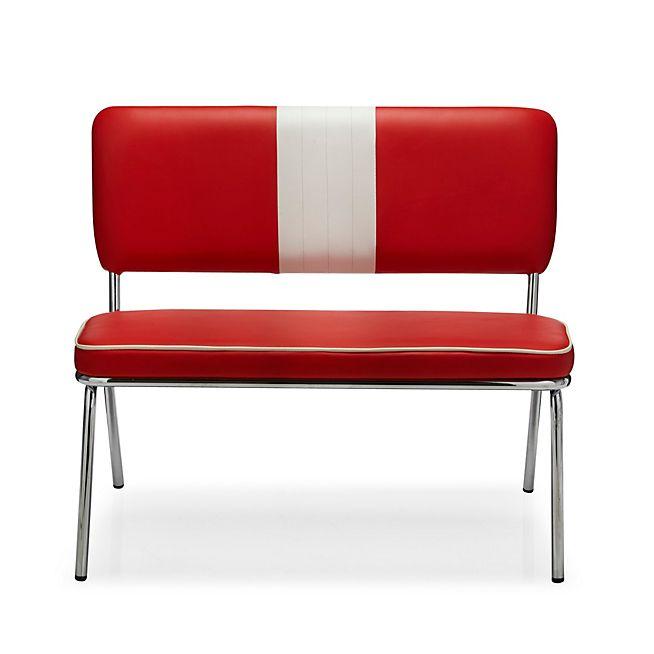 Presley Banquette rouge et blanche Deco Pinterest Bureaus - deco salon rouge et blanc