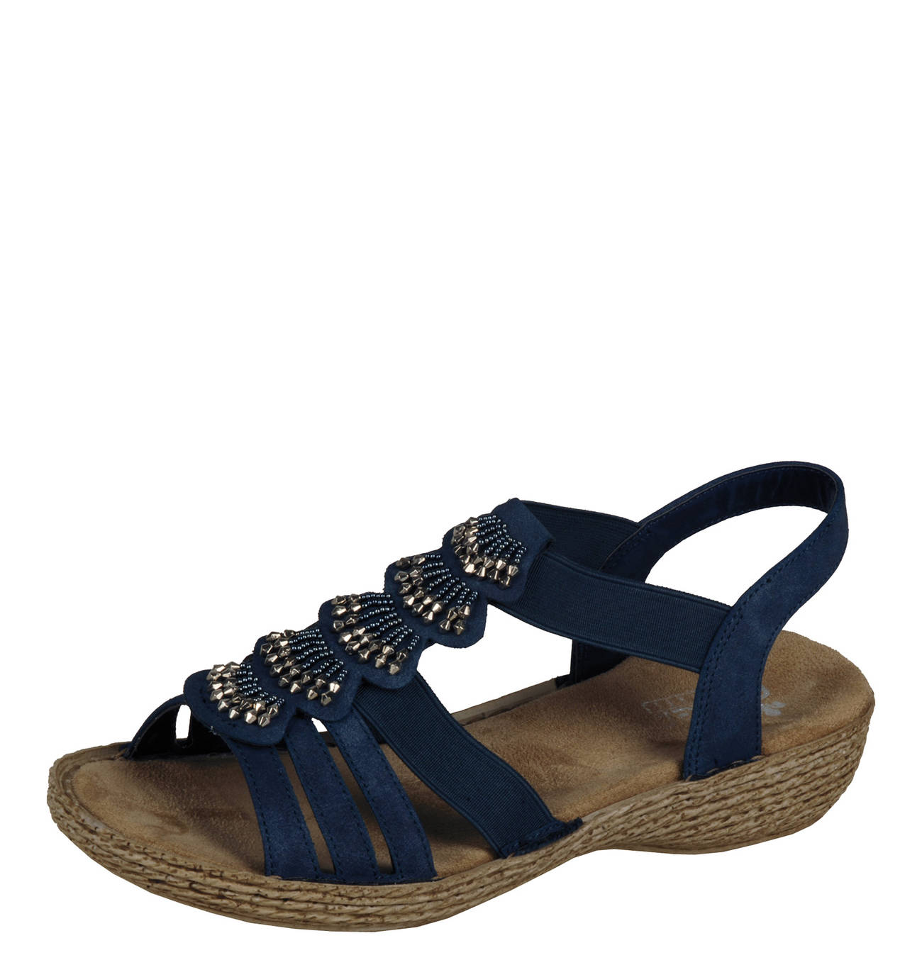 RIEKER Sandalen Sandaletten Damen schwarz Kostenloser