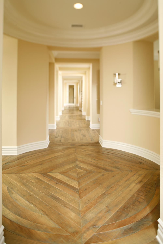 Attractive Richard Marshall Fine Flooring Home Solid Hardwood Floor Hallway Walnut  Plank Diamond Pattern Foyer Distressed Rustic