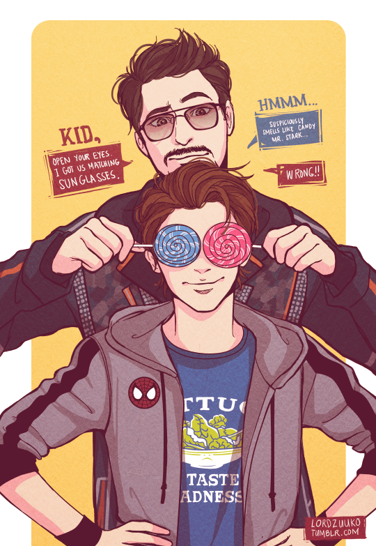 "lordzuuko ""I can't believe Tony Stark finally adopted"
