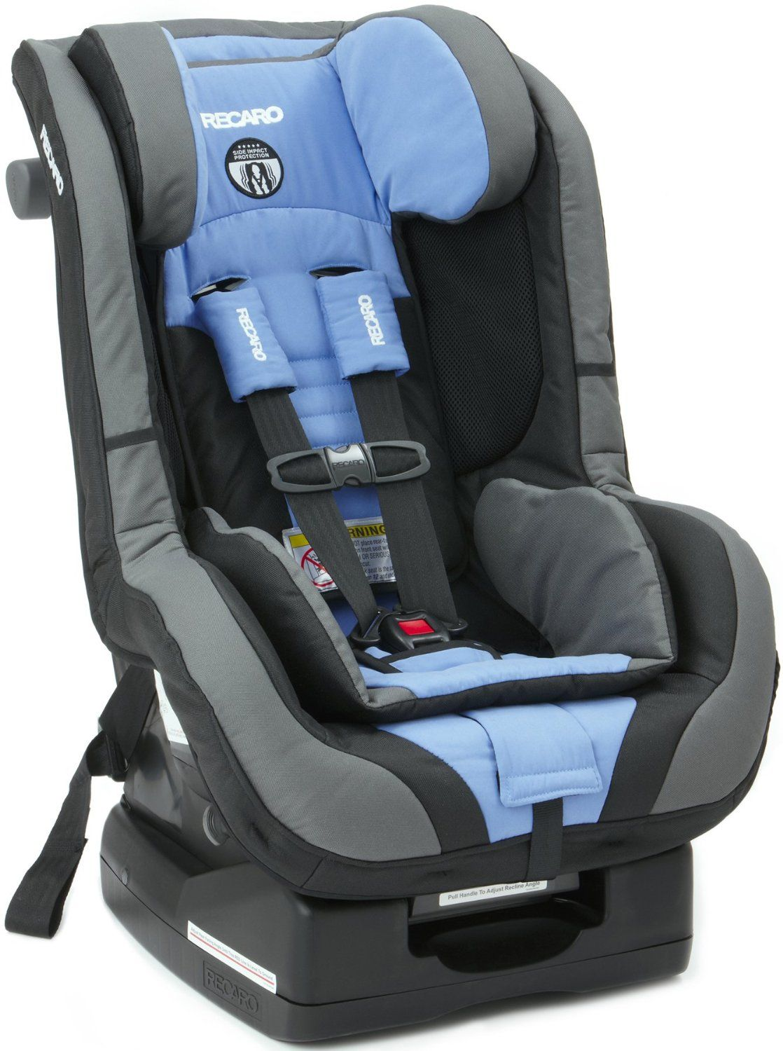 Recaro ProRIDE Convertible Car Seat Offers Multiple Safety Features Side Impact Protection A Head Restraint And Vehicle Belt Lock Off Mechanism