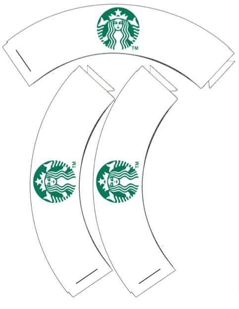 Free printable starbucks cupcake wrappers to go with the for Coffee cup wrapper template