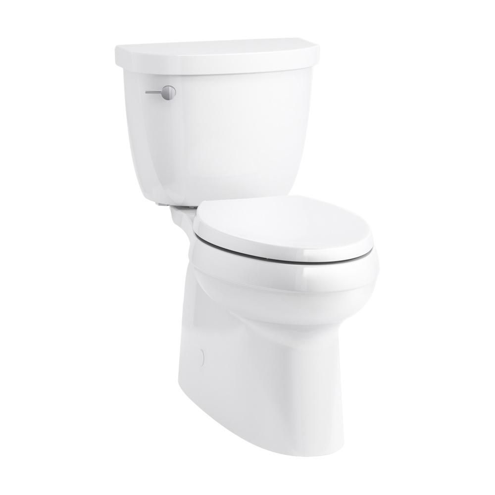 Kohler Cimarron Comfort Height 2 Piece 1 28 Gpf Single Flush Elongated Toilet In White K 5310 0 Kohler Cimarron Modern Toilet Kohler