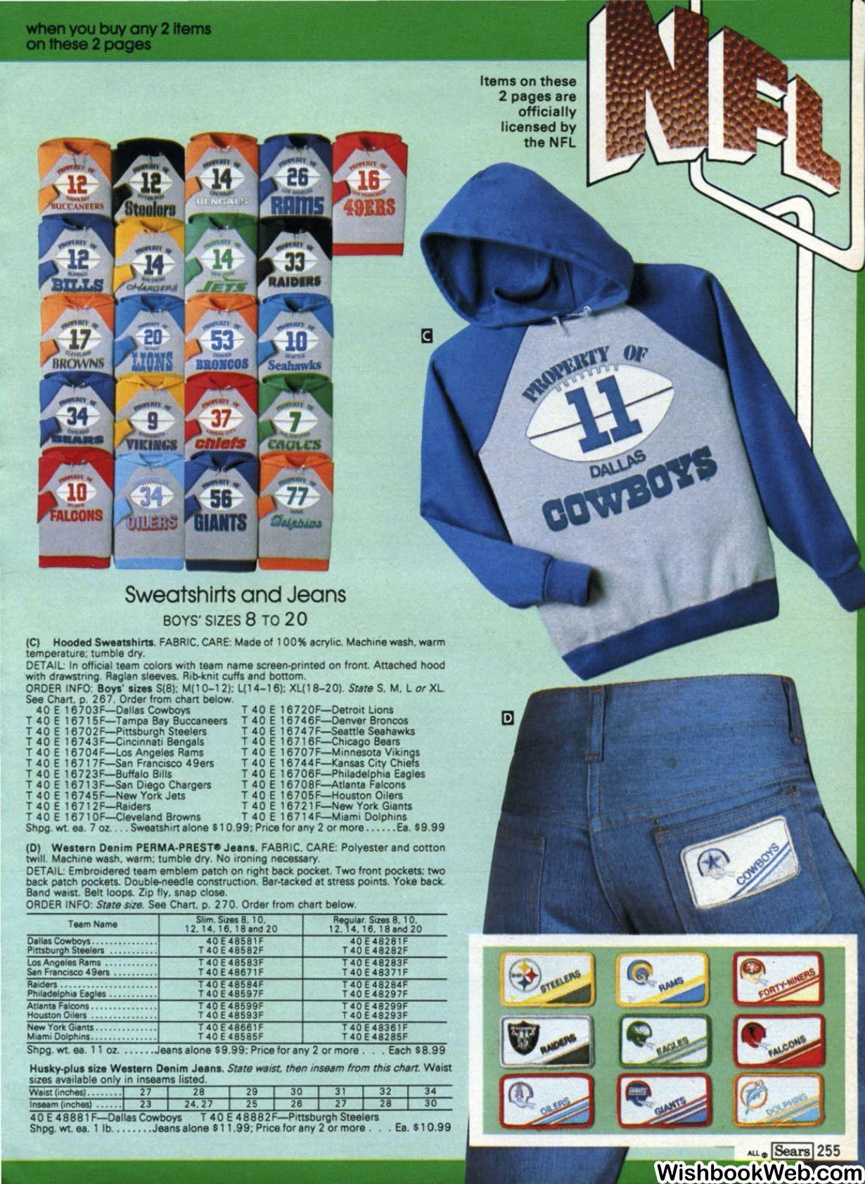 Sears Catalog NFL jersey sweatshirt 1982 | T-Shirt Ads | Nfl jerseys