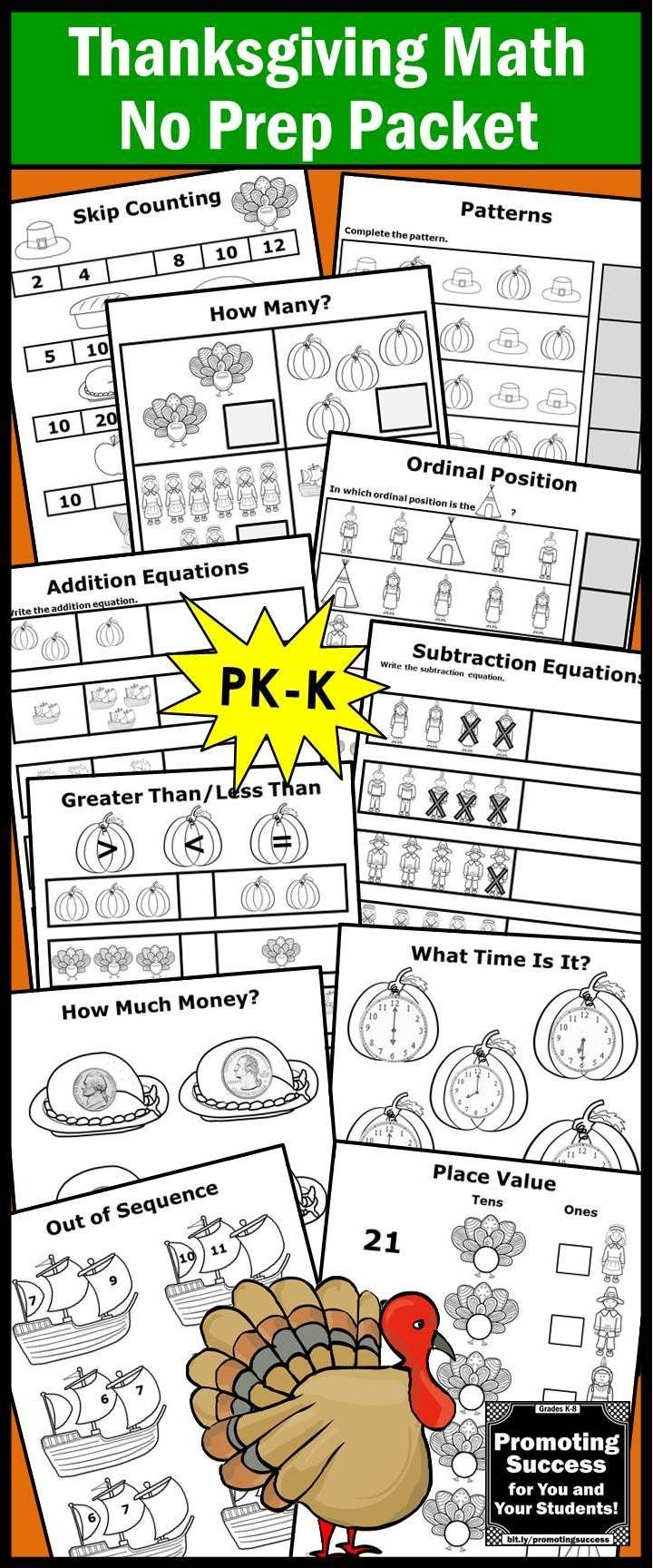 Uncategorized Math Worksheets For Special Education Students thanksgiving math worksheets kindergarten activities packet special education