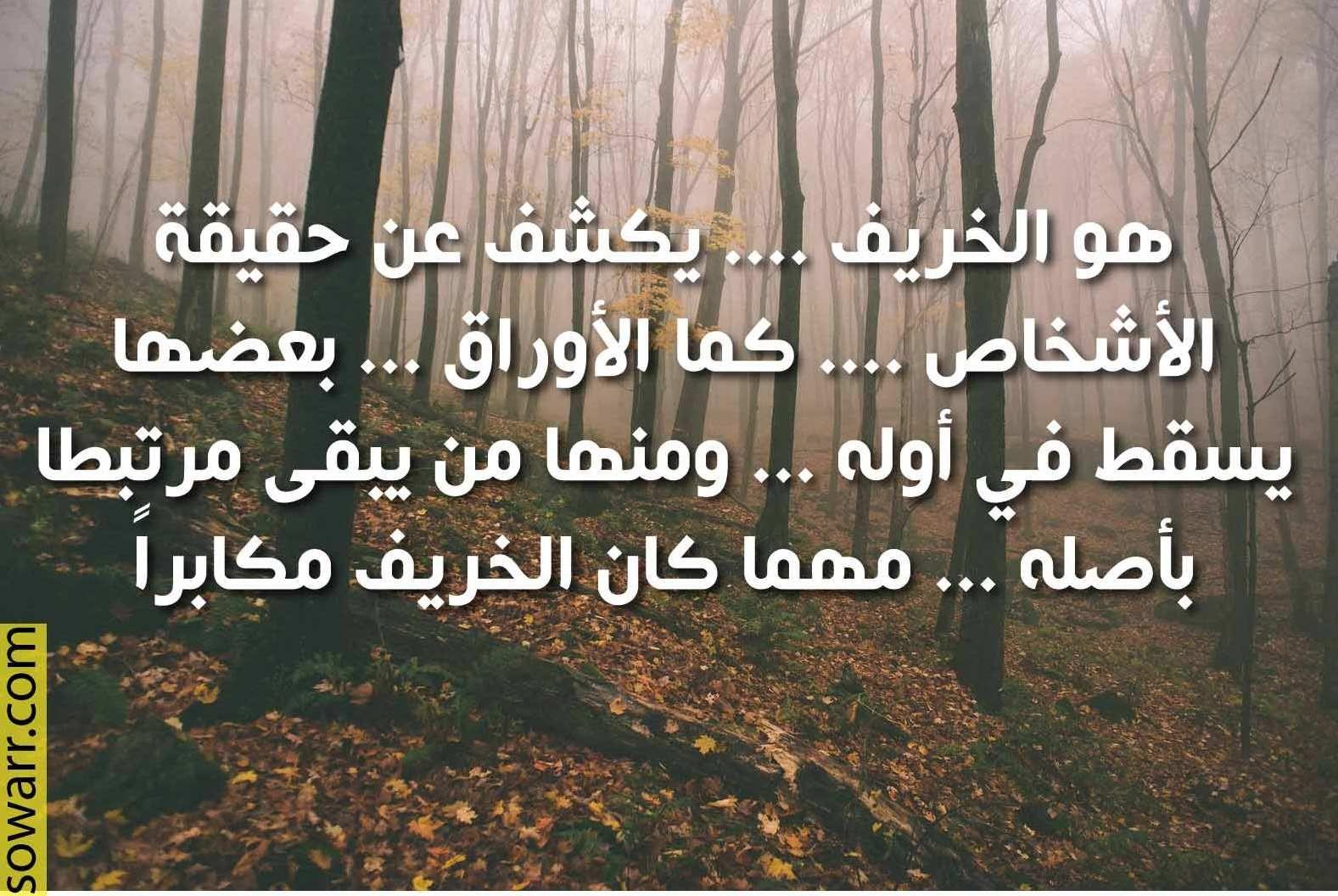 صور كلمات حزينة عن الخريف Sowarr Com موقع صور أنت في صورة Words Quotations Arabic Quotes