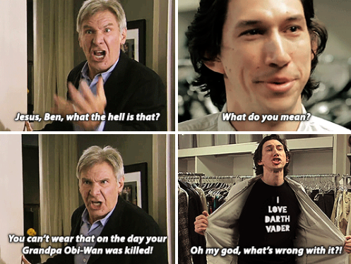A Tumblr Has Been Imagining Kylo Ren Living At Home With Han And Leia And It S So Perfect Star Wars Humor Han And Leia Star Wars Jokes