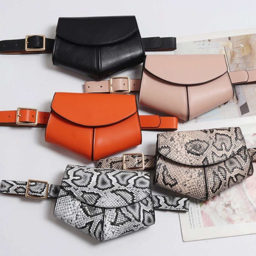 Women Waist Fanny Packs Belt Bag Luxury Brand PU Leather Chest Bag